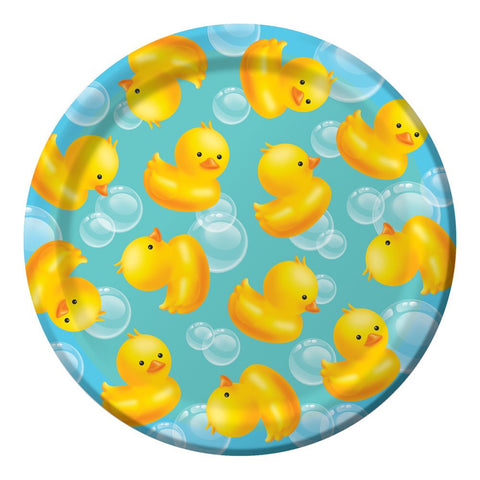 Bubble Bath 7 inch Round Lunch Plates/Case of 96