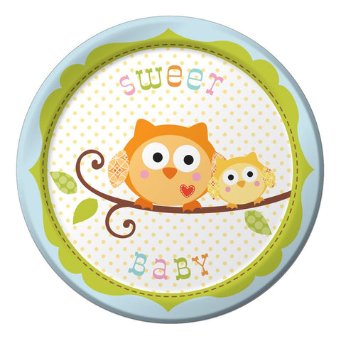 7 inch Lunch Plates Sweet Baby Boy Happi Tree/Case of 96