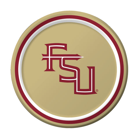 Florida State Univ 7 Inch Lunch Plates/Case of 96