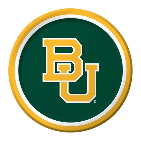 Collegiate 9 inch Dinner Plates Baylor University/Case of 96