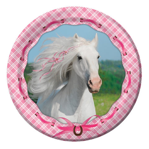 9 inch Round Dinner Plates Heart My Horse/Case of 96