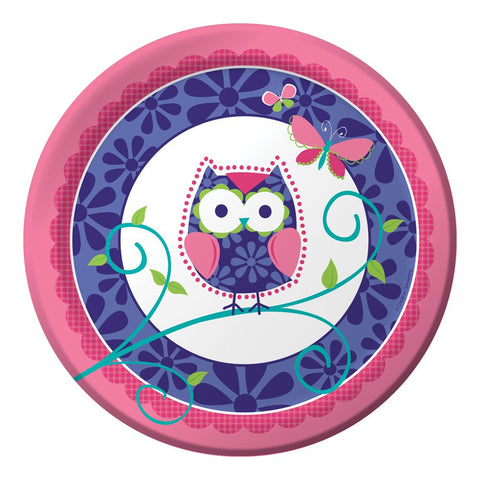9 inch Round Dinner Plates Owl Pal Birthday/Case of 96