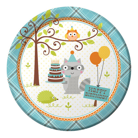 Happi Woodland Boy 9 inch Round Dinner Plates/Case of 96