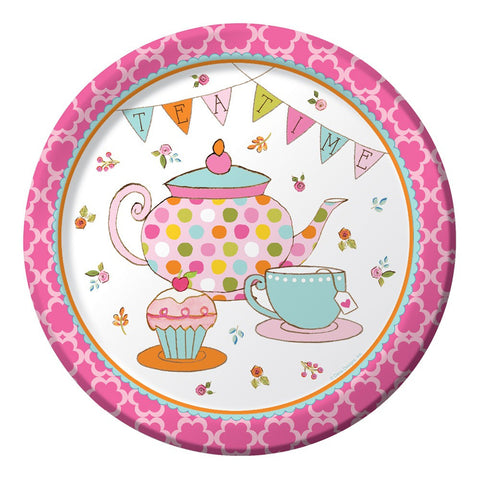 Tea Time 9 inch Round Dinner Plates/Case of 96