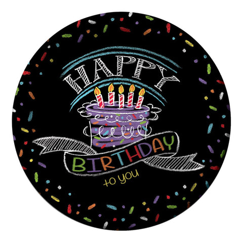Chalk Birthday 9 inch Round Dinner Plates/Case of 96