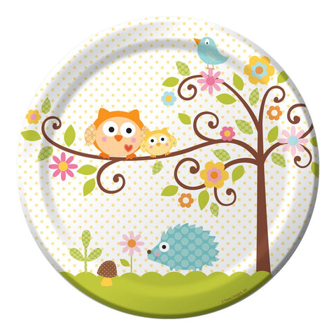 9 inch Round Dinner Plates Happi Tree/Case of 96