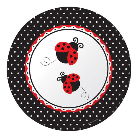 10 inch Round Banquet Plates Ladybug Fancy/Case of 96