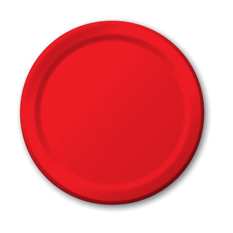 10 inch Round Paper Banquet Plate Classic Red/Case of 240