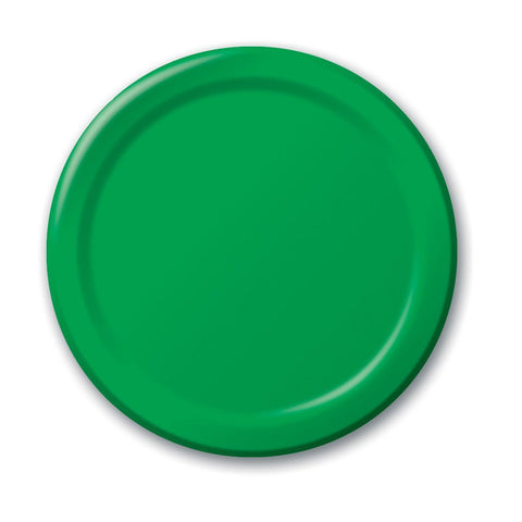 10 inch Round Paper Banquet Plate Emerald Green/Case of 240