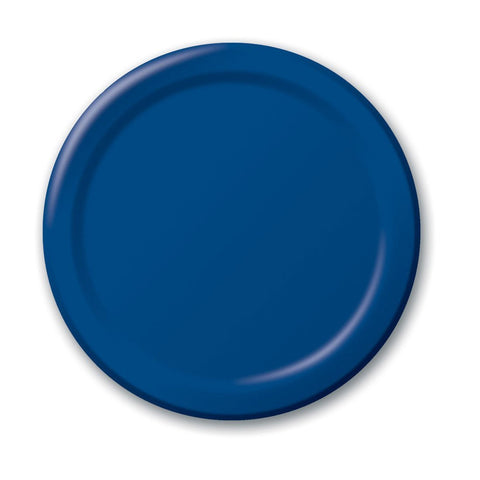 10 inch Round Paper Banquet Plate Navy/Case of 240