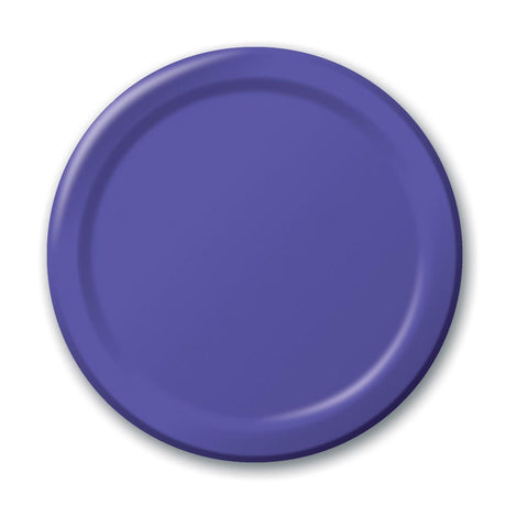 10 inch Round Paper Banquet Plate Purple/Case of 240
