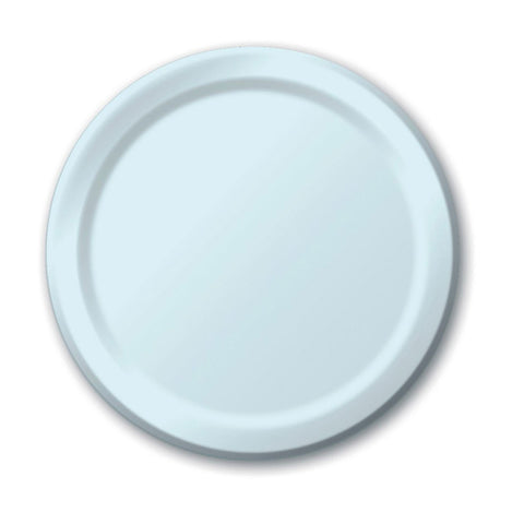 10 inch Round Paper Banquet Plate Pastel Blue/Case of 240