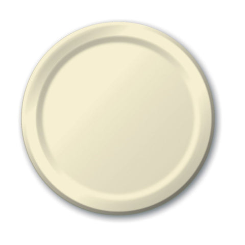 10 inch Round Paper Banquet Plate Ivory/Case of 240
