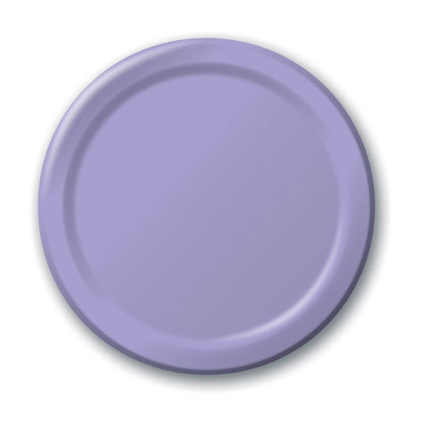 10 inch Round Paper Banquet Plate Luscious Lavender/Case of 240