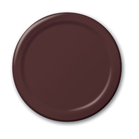 10 inch Round Paper Banquet Plate Chocolate Brown/Case of 240