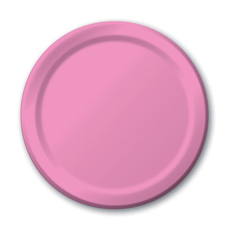 10 inch Round Paper Banquet Plate Candy Pink/Case of 240