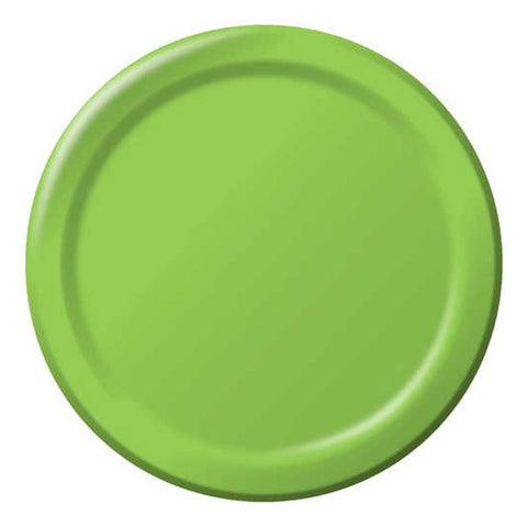 10 inch Round Paper Banquet Plate Fresh Lime/Case of 240