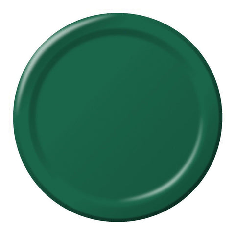 10 inch Round Paper Banquet Plate Hunter Green/Case of 240