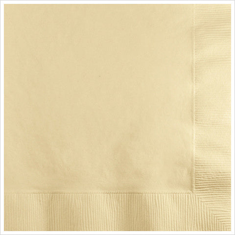 3 Ply Beverage Napkins Ivory/Case of 500