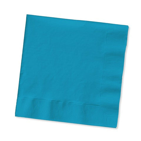 3 Ply Beverage Napkins Turquoise/Case of 500
