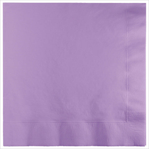 3 Ply 1/4 Fold Dinner Napkins Luscious Lavender/Case of 250