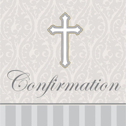 3 Ply Beverage Napkins Confirmation Devotion/Case of 192