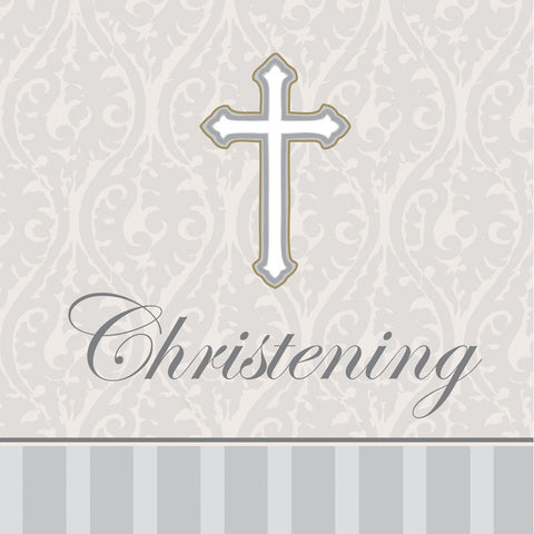 3 Ply Beverage Napkins Christening Devotion/Case of 192