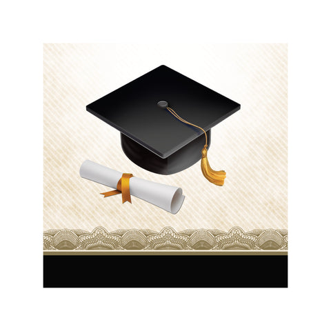 Cap & Gown 2 Ply Beverage Napkins/Case of 192