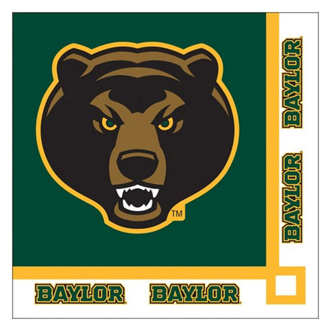 Collegiate 2 Ply Beverage Napkins Baylor University/Case of 240