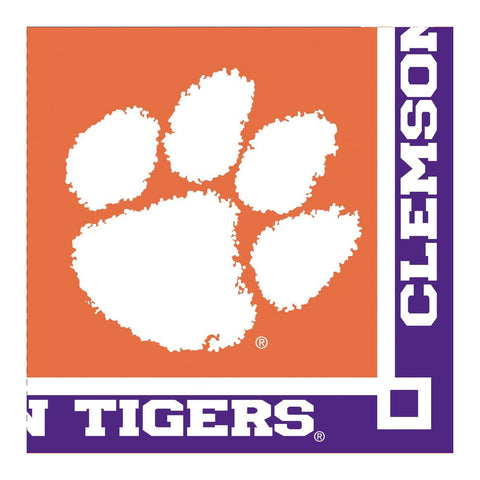 Clemson Univ 2 Ply Beverage Napkins/Case of 240