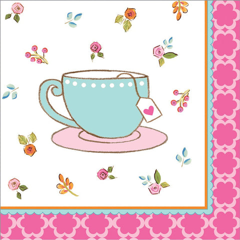 Tea Time 3 Ply Beverage Napkins/Case of 192