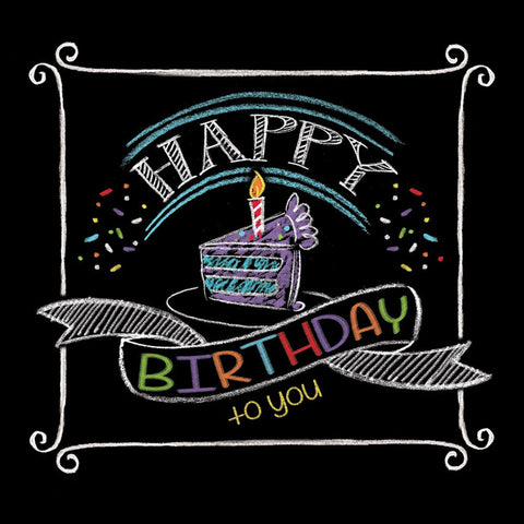 Chalk Birthday 2 Ply Beverage Napkins/Case of 192