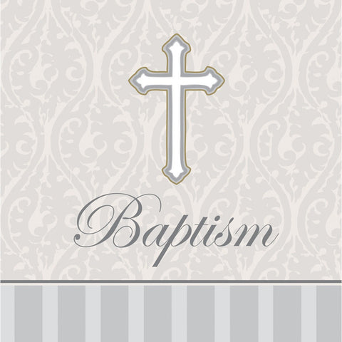 3 Ply Beverage Napkins Baptism Devotion/Case of 192