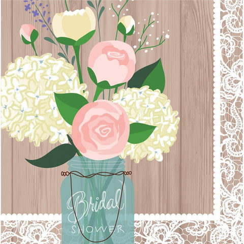 Rustic Wedding 2 Ply Lunch Napkins Bridal Shower/Case of 192