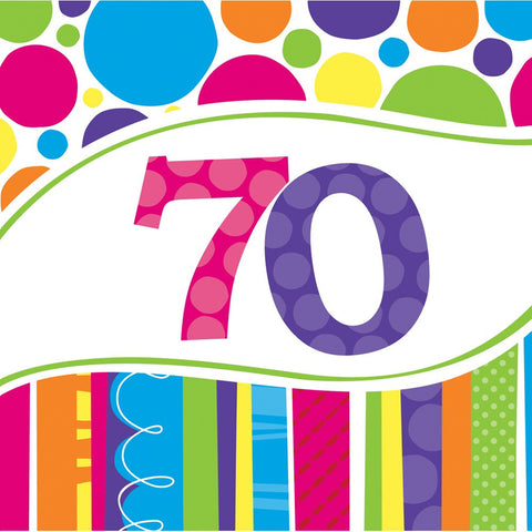 Bright And Bold 2 Ply Lunch Napkins 70th/Case of 216