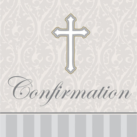 3 Ply Lunch Napkins Confirmation Devotion/Case of 192