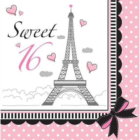 2 Ply Lunch Napkins Sweet 16/Case of 216