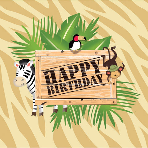 3 Ply Lunch Napkins Hpy Bday Safari Adventure/Case of 192