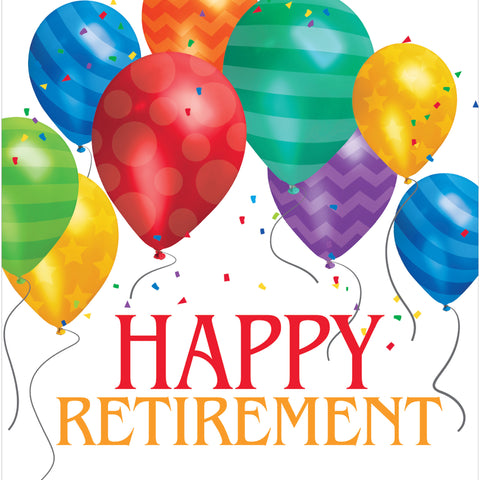 Balloon Blast Happy Retirement Lunch Napkins/Case of 192