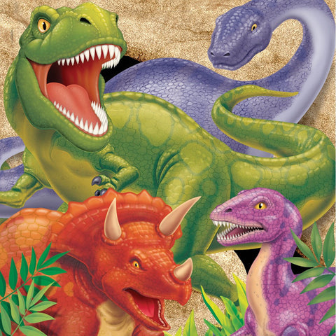 3 Ply Lunch Napkins Dino Blast/Case of 192