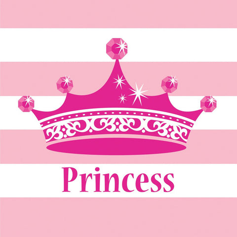 Pink Princess Royalty 2 Ply Lunch Napkins/Case of 192