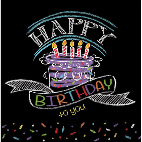 Chalk Birthday 2 Ply Lunch Napkins/Case of 192