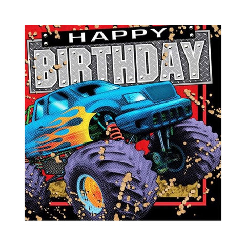 3 Ply Lunch Napkins Happy Birthday Mudslinger/Case of 192