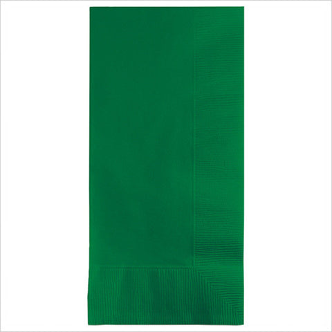2 Ply 1/8 Fold Dinner Napkins Emerald Green/Case of 600