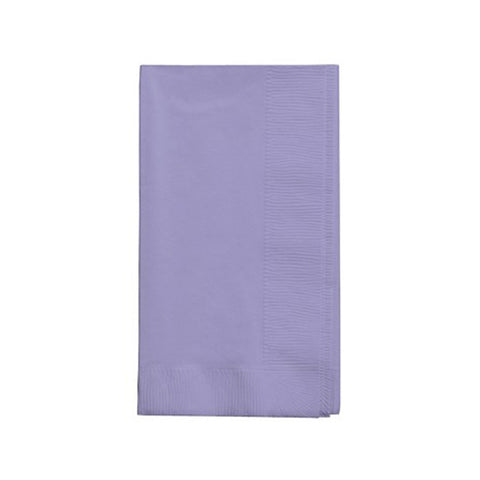 2 Ply 1/8 Fold Dinner Napkins Luscious Lavender/Case of 600