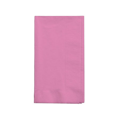 2 Ply 1/8 Fold Dinner Napkins Candy Pink/Case of 600