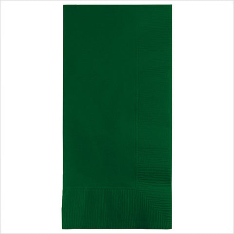 2 Ply 1/8 Fold Dinner Napkins Hunter Green/Case of 600