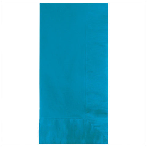 2 Ply 1/8 Fold Dinner Napkins Turquoise/Case of 600