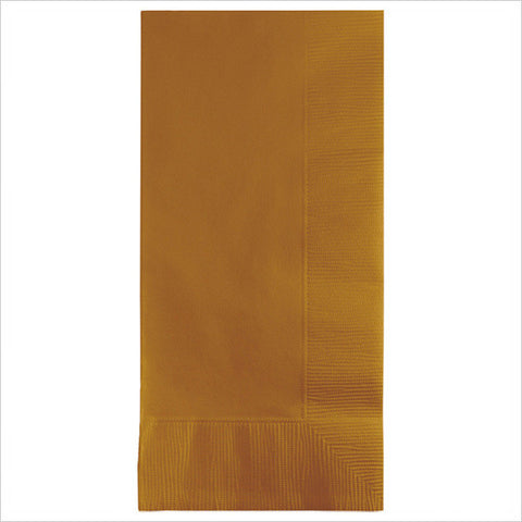2 Ply 1/8 Fold Dinner Napkins Glittering Gold/Case of 600
