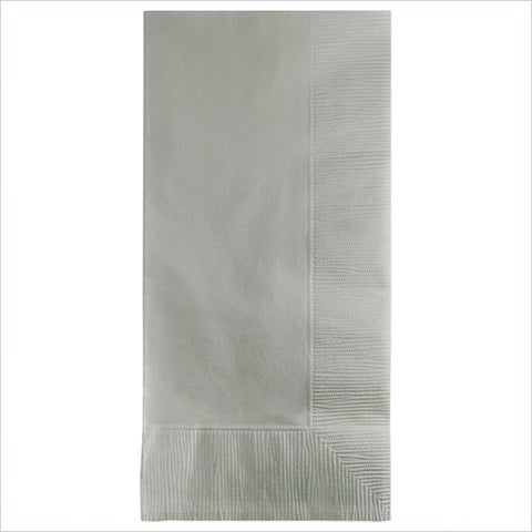 2 Ply 1/8 Fold Dinner Napkins Shimmering Silver/Case of 600